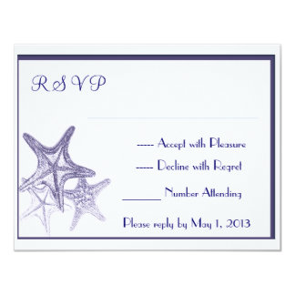 navy seastar RSVP Card