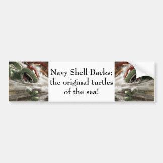 Navy Shell Backs Bumper Sticker