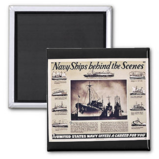 Navy Ships Behind The Scenes Magnet