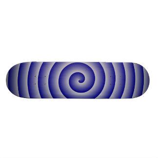 Navy Silver Hypnotic Skateboard Deck