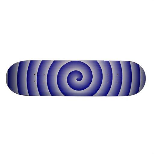 Navy & Silver Hypnotic Skateboard Deck