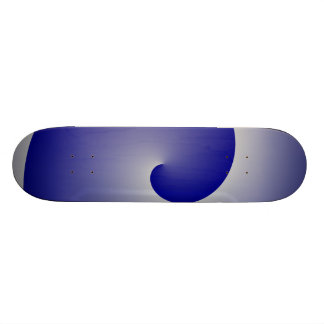 Navy Silver Swirl Custom Skateboard