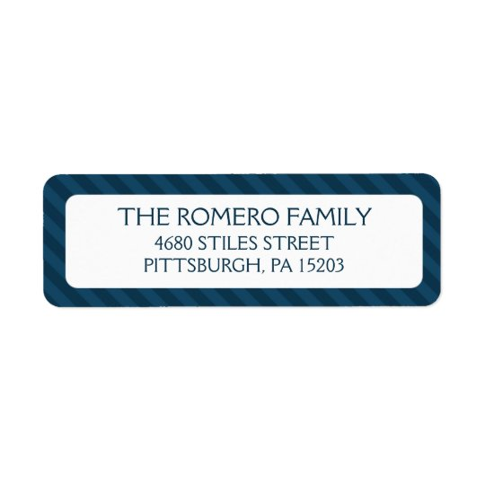 Navy Simple Stripes Custom Personalized