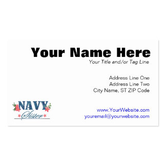 Navy Sister (Cammo) Pack Of Standard Business Cards