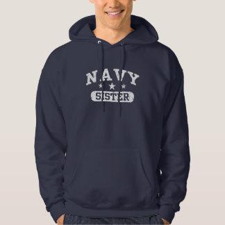 Navy Sister Hooded Sweatshirts