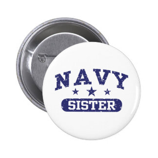 Navy Sister Pinback Button