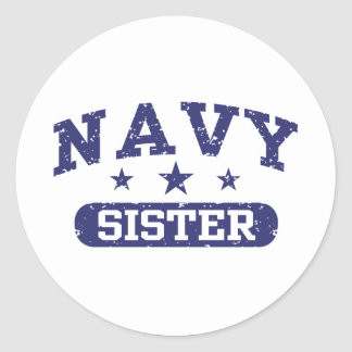 Navy Sister Stickers