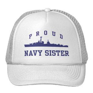 Navy Sister Trucker Hats