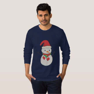 navy Snowman Ugly Christmas Sweater