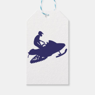 Navy-Snowmobiler Gift Tags
