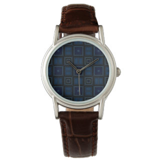 Navy Squares Watch