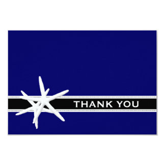 Navy Starfish, Small Thank You Card