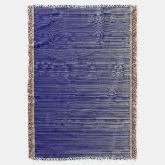 Navy Stripe Pattern Throw Blanket