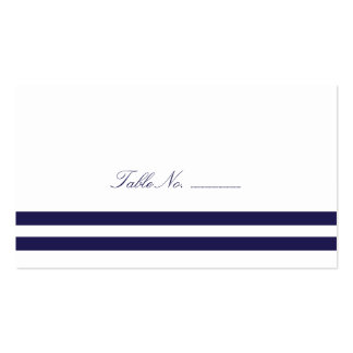 Navy Striped Guest Table Escort Cards Pack Of Standard Business Cards