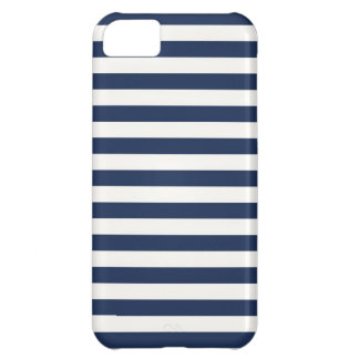 Navy Stripes Cover For iPhone 5C