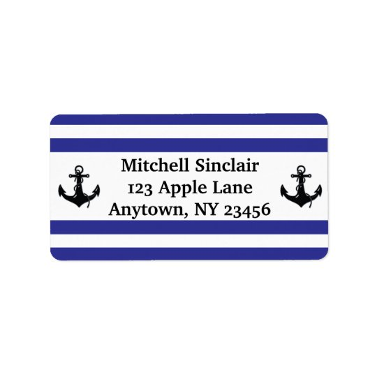 Navy Stripes with Anchors