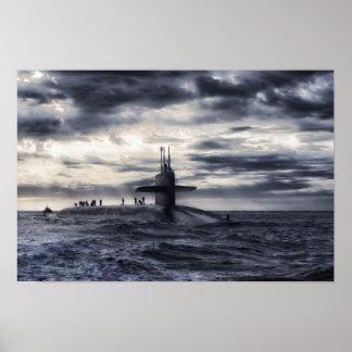 Navy Submarine Poster