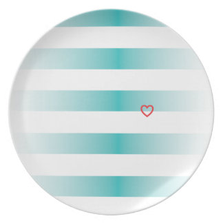 Navy Summer Stripes Plate