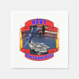 Navy the Sea is Ours Napkin
