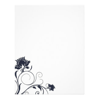 Navy Thistle Wedding Letterhead