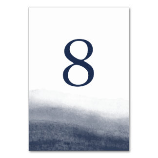 Navy Tides Table Number Card Table Card
