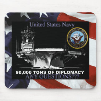 Navy Tons of Diplomacy Mouse Pad