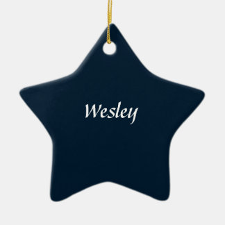 Navy Tree Ornament Personalized