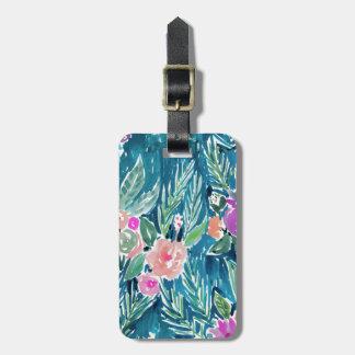Navy Tropical Paradise Floral Bag Tag