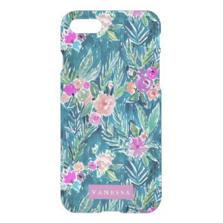 Navy Tropical Paradise Floral CUSTOMIZABLE iPhone 8/7 Case