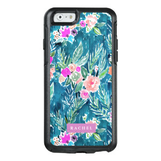 Navy Tropical Paradise Floral CUSTOMIZABLE OtterBox iPhone 6/6s Case