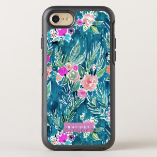 Navy Tropical Paradise Floral OtterBox Symmetry iPhone 7 Case