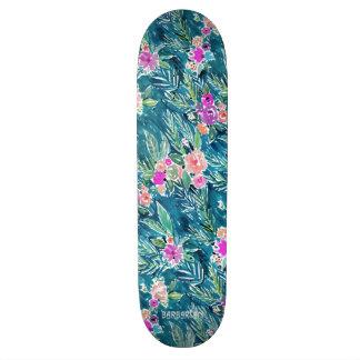 NAVY TROPICAL PARADISE Hawaiian Hibiscus Floral Skate Board Decks