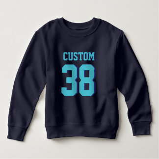 Navy & Turquoise Toddler | Sports Football Jersey Sweatshirt