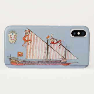 Navy Tuscany Medici,Blue Nautical iPhone X Case
