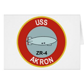 NAVY USS AKRON ZR-4 ZEPLIN CLASS RIGID AIRSHIP CARD