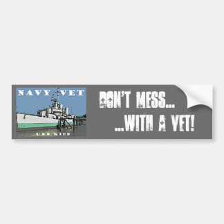 Navy Vet Bumper Sticker
