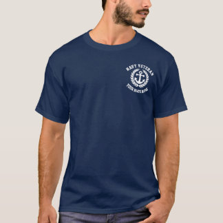 Navy Veteran and nautical  ships anchor T-Shirt