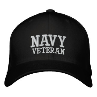 NAVY, VETERAN EMBROIDERED HAT