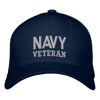 Navy Veteran Military Vet Embroidered Hat