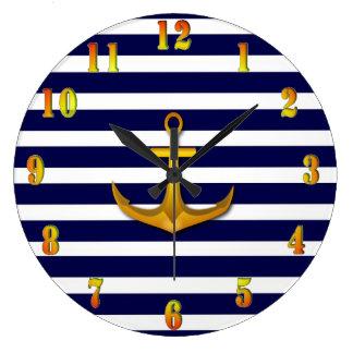 Navy Wall Clock