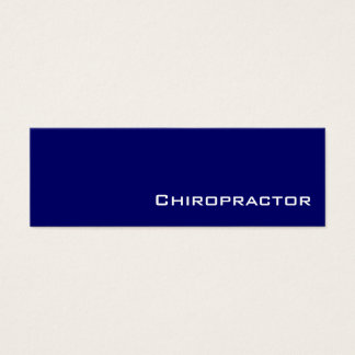 Navy white Chiropractor business cards