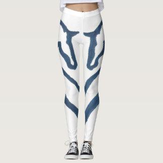Navy & White Horse Design Leggings