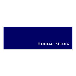 Navy white social media business cards