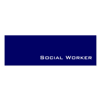 Navy white Social Worker business cards