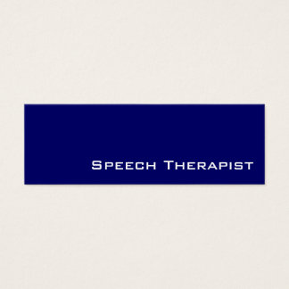 Navy white speech therapist business cards