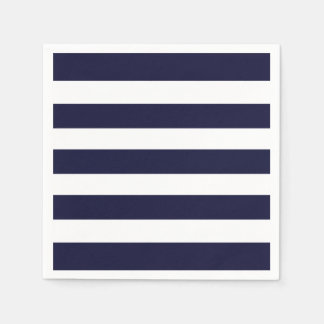 Navy & White Stripe Napkins