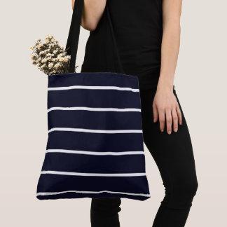 Navy-White-Stripes-Totes-Shoulder-Bags-Multi Tote Bag