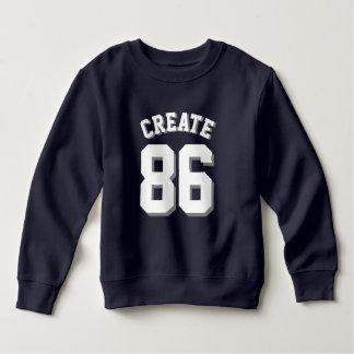 Navy & White Toddler | Sports Jersey Sweatshirt