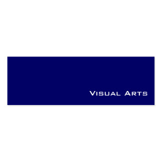 Navy white visual arts business cards