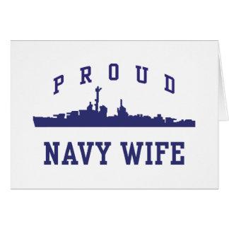 Navy Wife Card